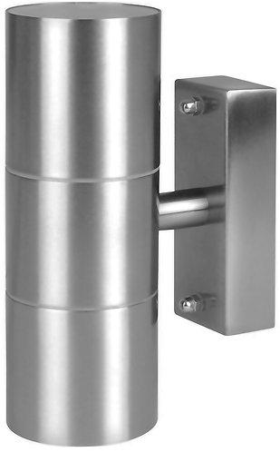 Applique da esterno in acciaio INOX con doppio fascio luminoso, due lampade GU10