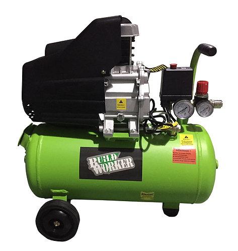 Compressore 2 HP serbatoio 24 litri con ruote