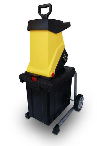 Trituratore elettrico 2500W con ruote, capacità sacco di raccolta 50 litri