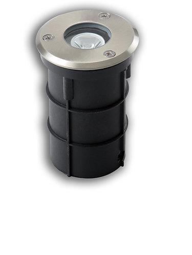 Faretto da pavimento ad incasso in acciaio INOX con lampada a led 3W, IP67