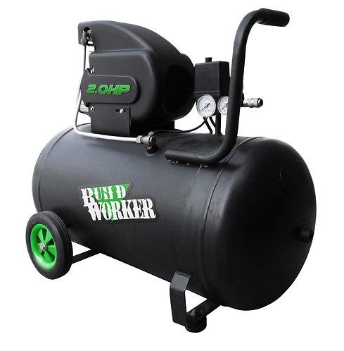 Compressore 2 HP serbatoio 100 litri con ruote