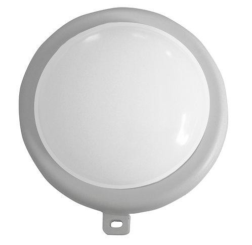 Lampada per esterno tonda in abs con lampada a led da 5W, colore bianco