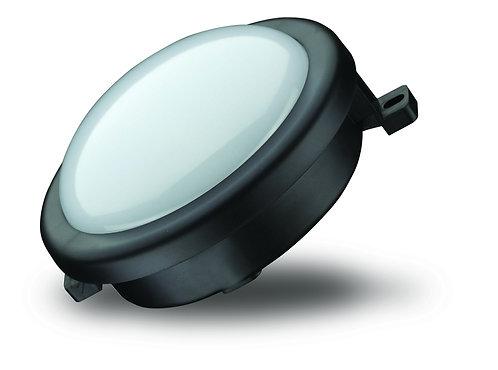 Lampada per esterno tonda in ABS con lampada a led da 5W, colore nero
