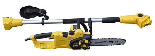 Motosega elettrica 750W fornita con accessorio manico estensibile fino a 2,8 mt