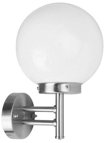 Applique a sfera da esterno in acciaio INOX, attacco lampada E27