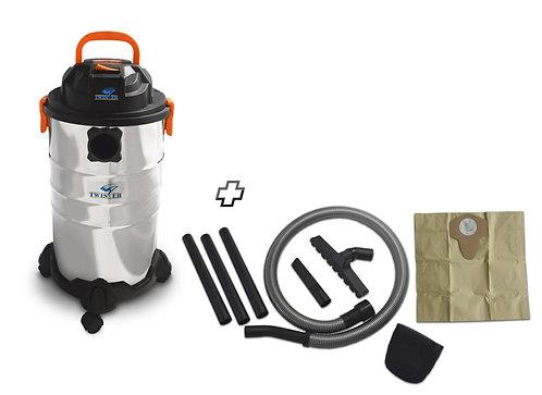 Aspiratore a bidone per polveri e liquidi 1250W, capacità 30 litri