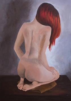 Her back