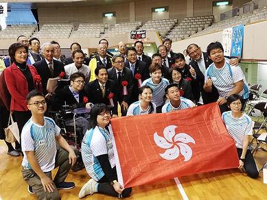 香港隊氣球排球及日本官員合照
