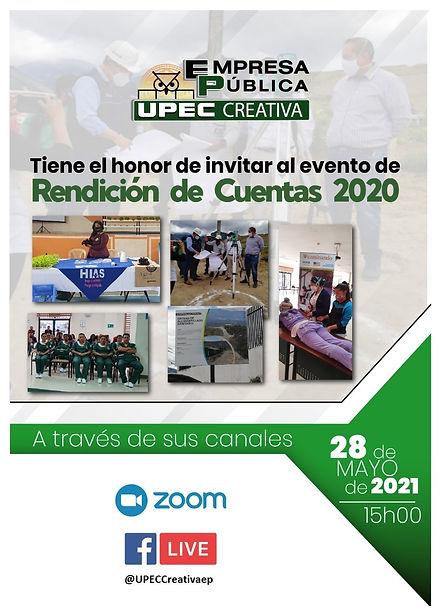 INVITACIÓN RENDICION DE CUENTAS UPEC CRE