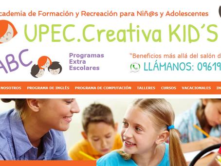 """Academia de Formación y Recreación para Niñ@s y Adolescentes """"UPEC.Creativa KID´S"""""""