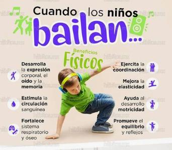 Beneficios cuando los niños bailan
