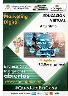 Curso virtual de Marketing digital.