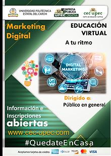 Curso virtual de Marketing digital.