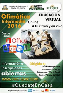 Ofimática Microsoft 2016 - Intermedio
