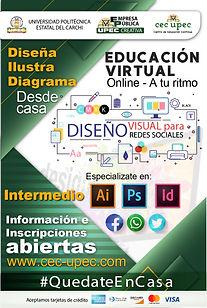 Formación en Diseño, Ilustración y Diagramación.