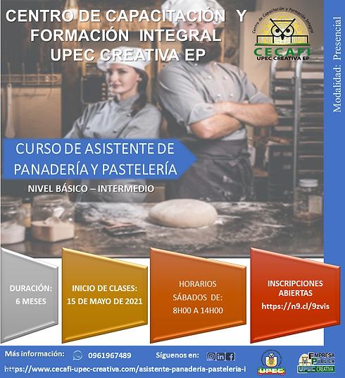 Asistente de panadería y pastelería bási