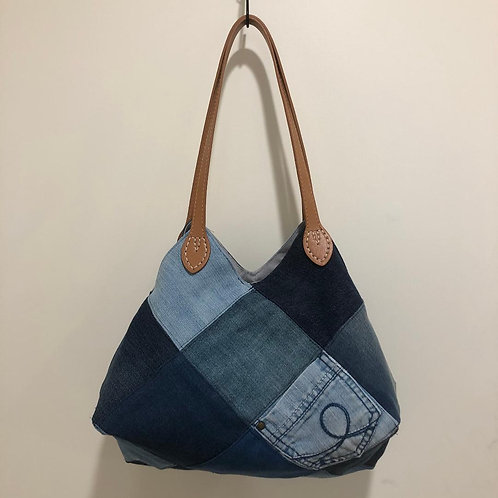 22 Square Bag - Upcycled Fabric
