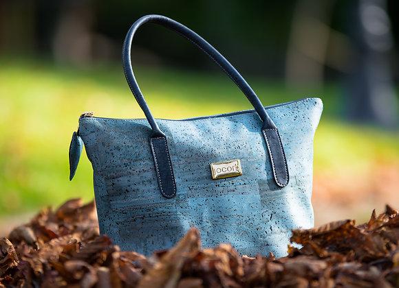 Handtas satchel in blauw