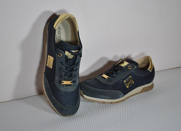 Sneakers in kurk blauw
