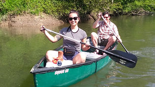 Canoeing the French Broad River near Hendersonville Asheville