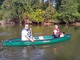 Canoeing the French Broad River near Hendersonville Asheville