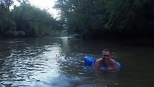 Tubing the French Broad River near Hendersonville Asheville