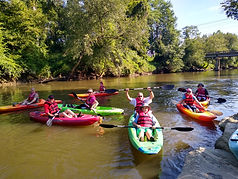 Kayaking the French Broad River near Hendersonville Asheville