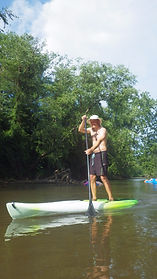 Paddle boarding the French Broad River near Hendersonville Asheville