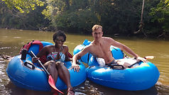 Tubing the French Broad River near Hende