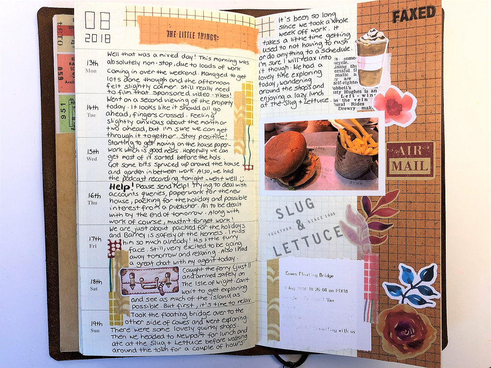 Journal collage