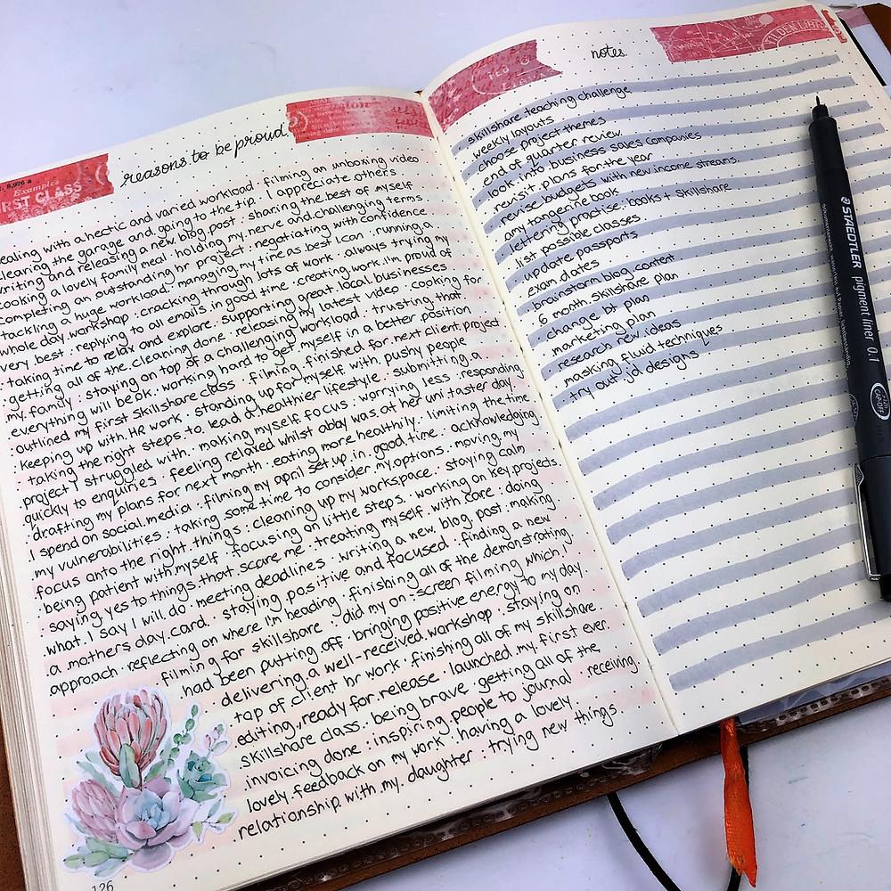 Bullet Journal Personal Development