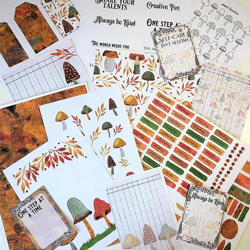 Journal Printables Bundle - Magical Mushrooms