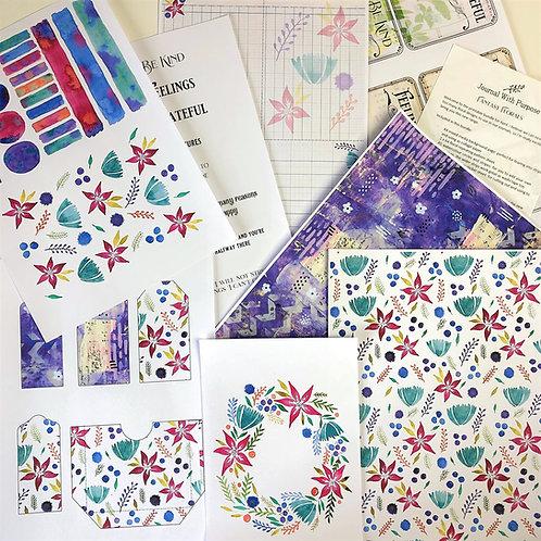 Journal Printables Bundle - Fantasy Florals