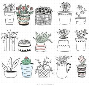 Plant Pot Doodles