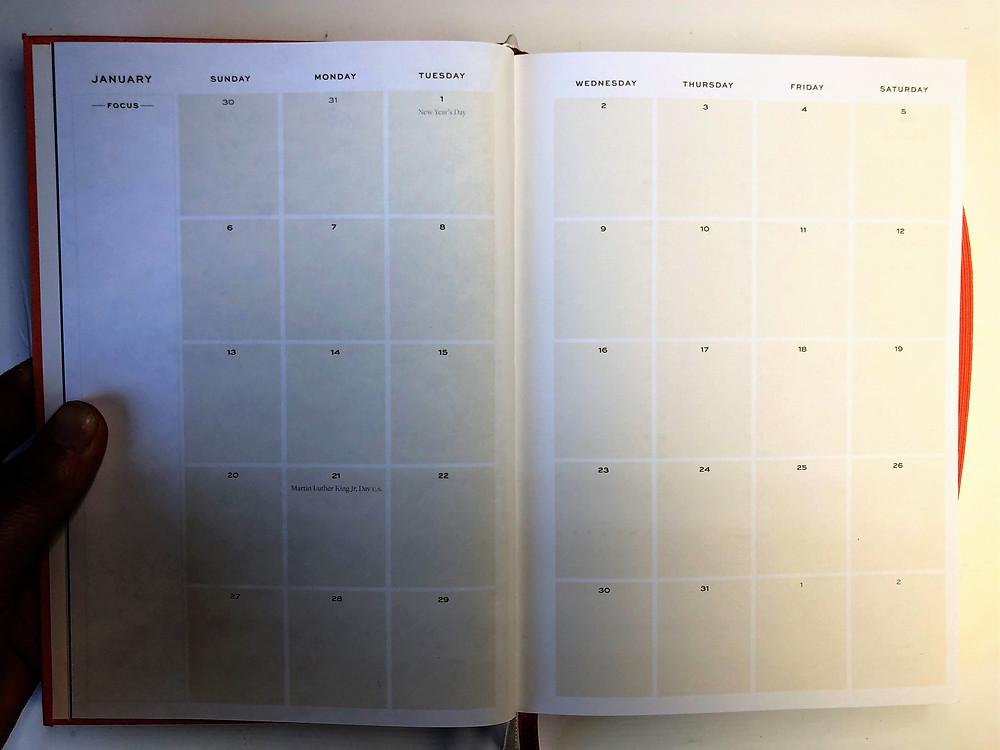 Ponderlily monthly calendar