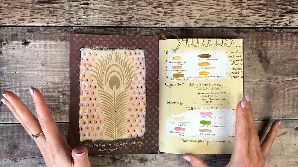 Art Journaling in a Junk Journal