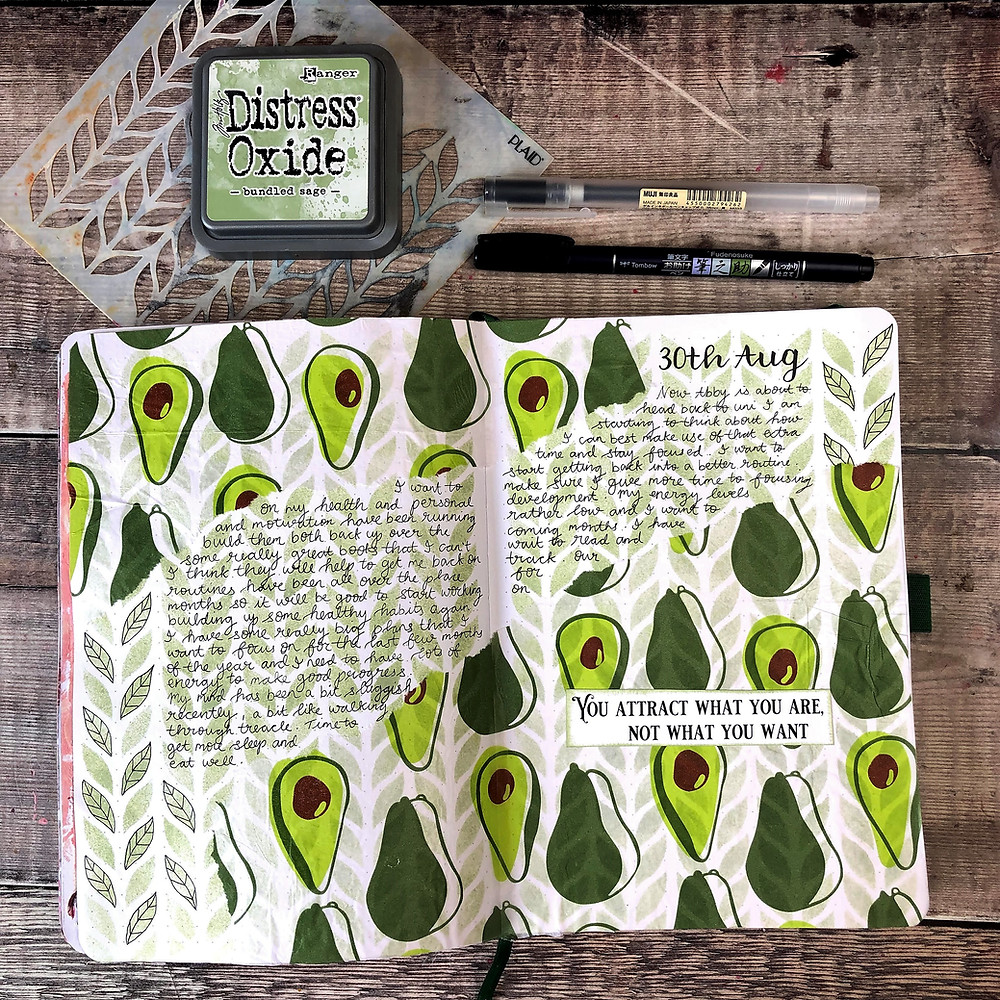 Tissue Paper Journal Pages