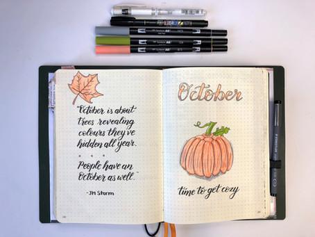 Bullet Journal Plans - October 2018