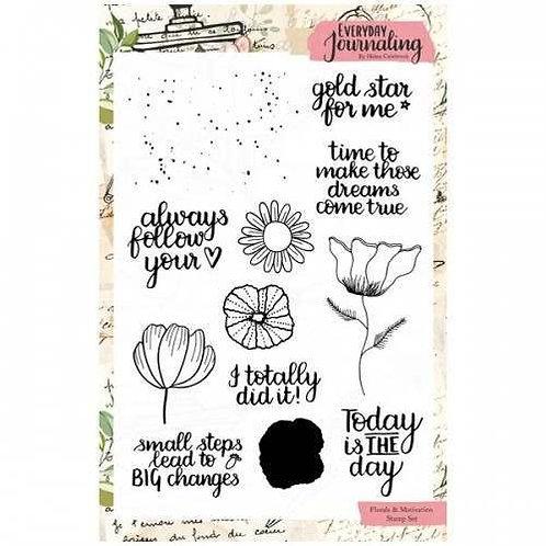 A5 Florals & Motivation Stamps