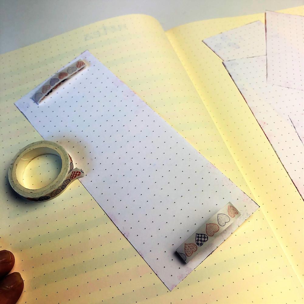 Washi tape layouts