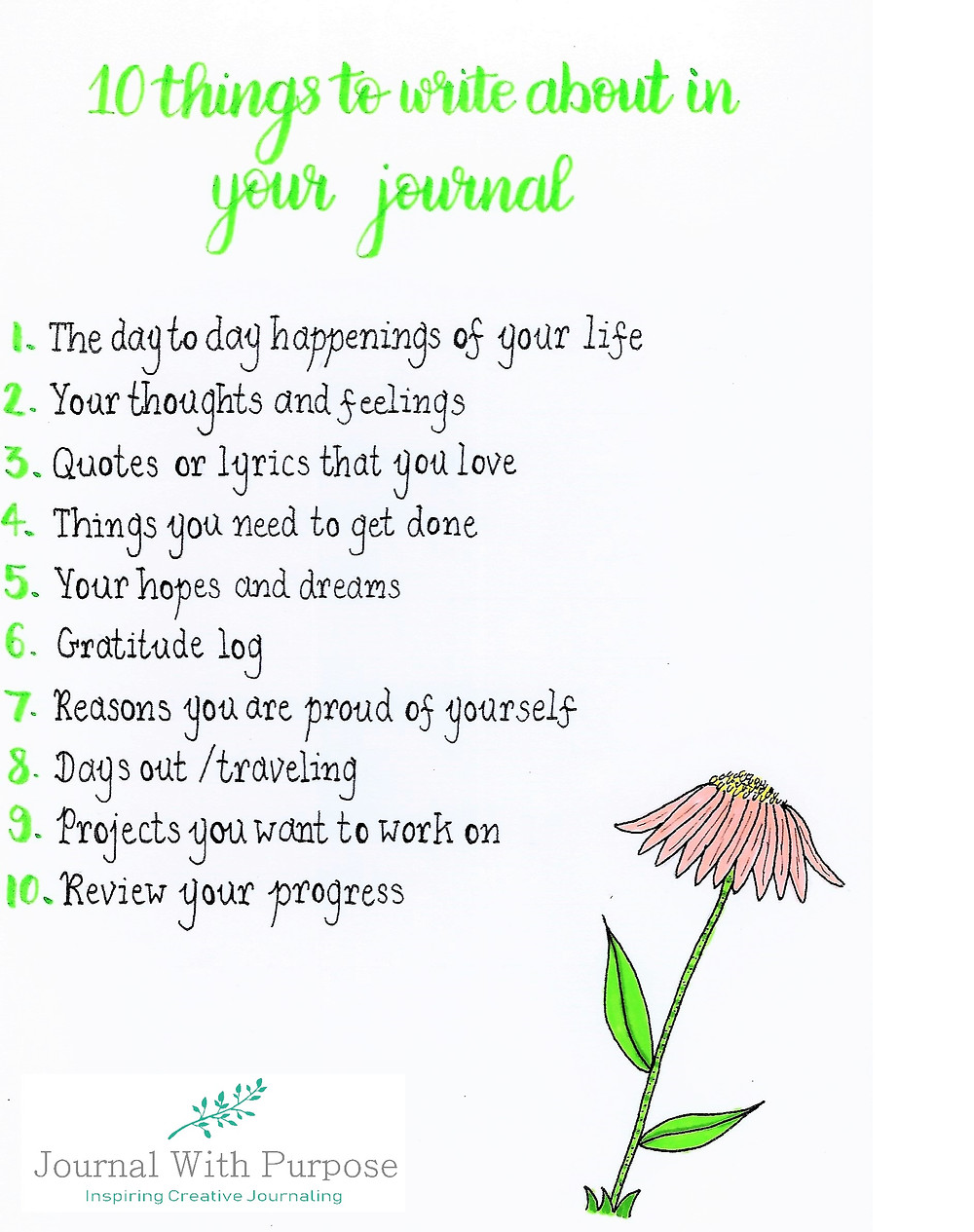Free journal printables