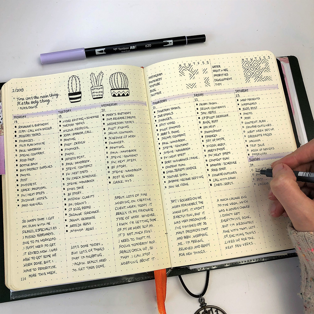 Bullet Journal Daily Spread