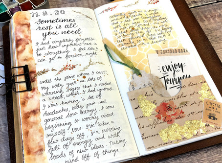 Journal Pages - Time to Rest