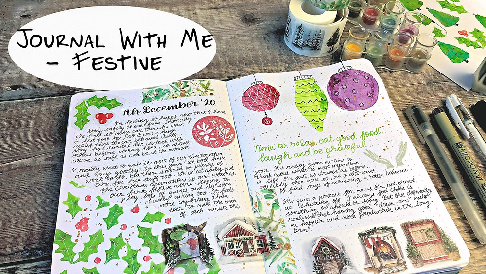 Festive Journal Pages
