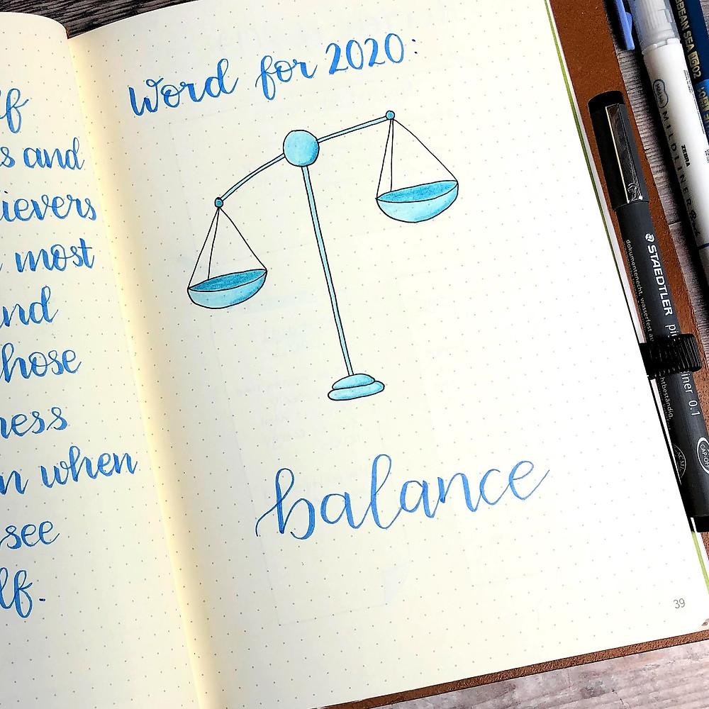 Bullet Journal Word for 2020