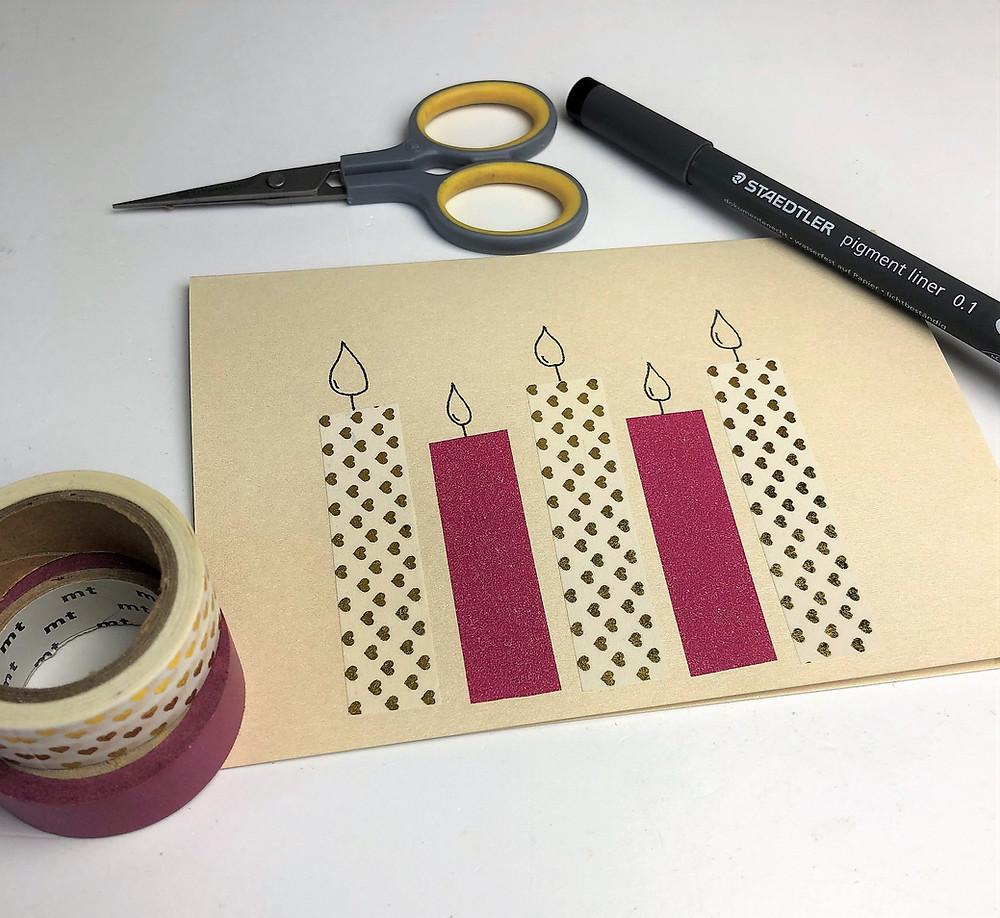 Washi Tape Greetings Card