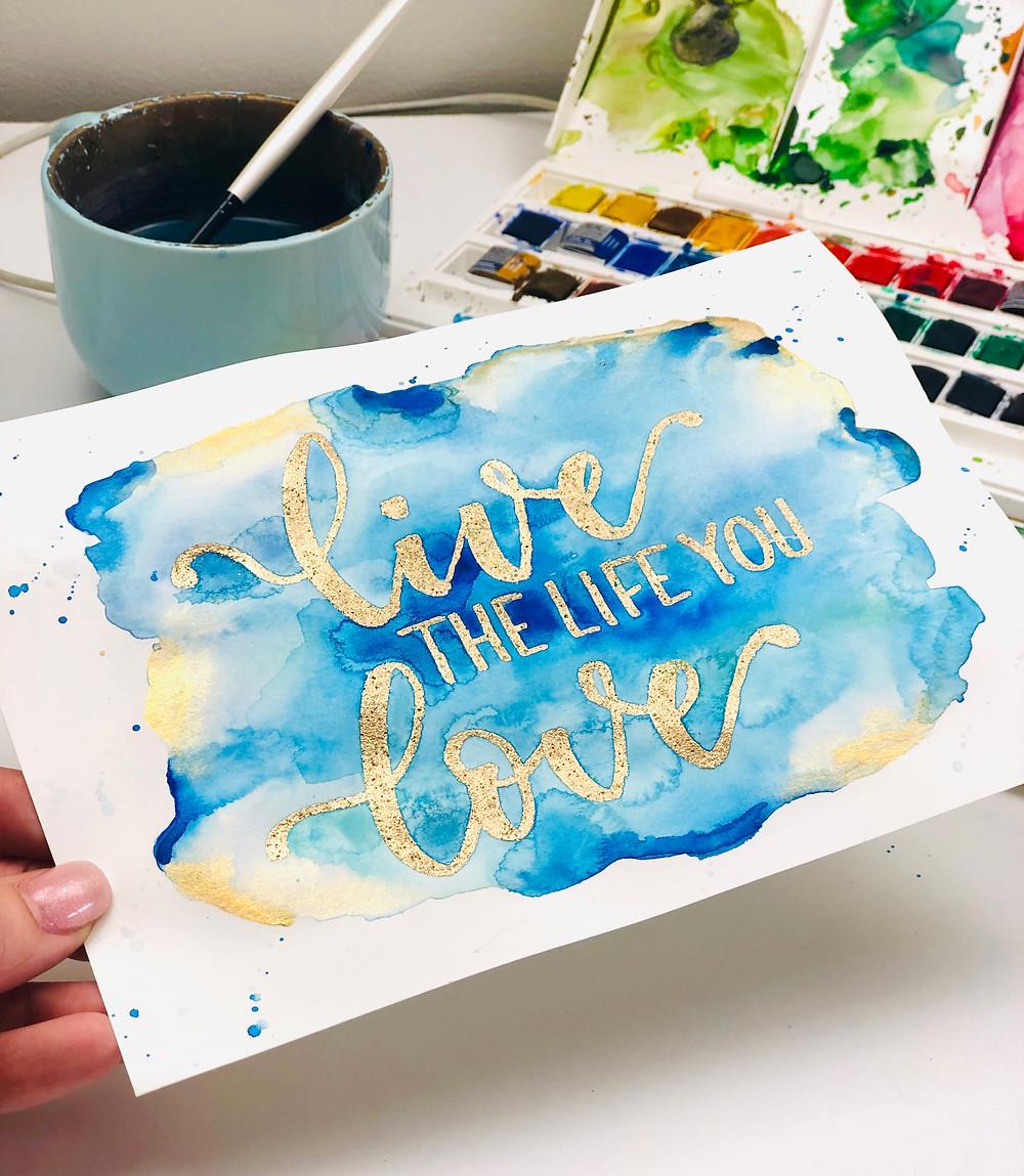 Watercolour Lettering