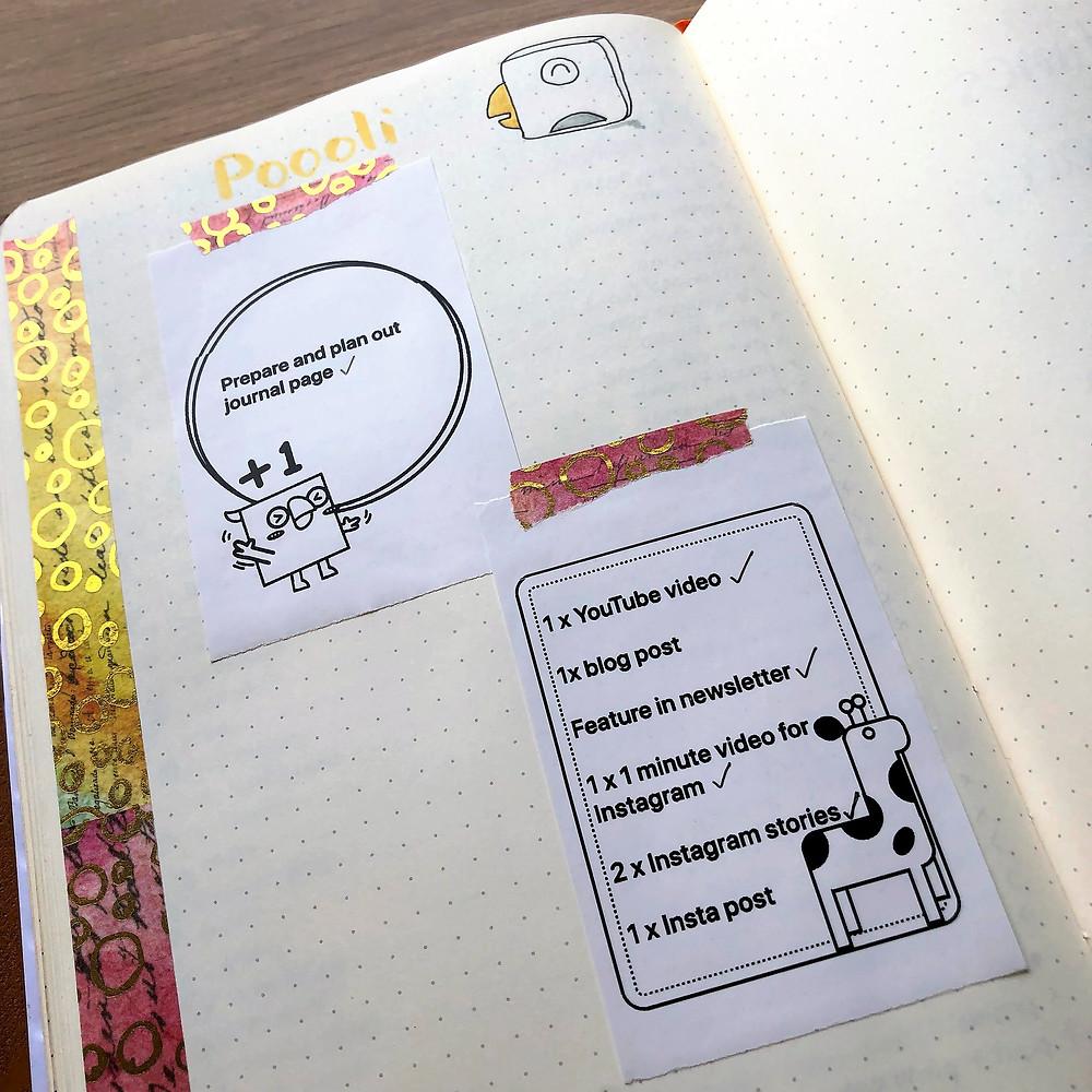 Poooliprint for journaling