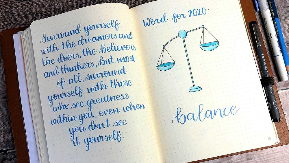 Bullet Journal Word for the Year