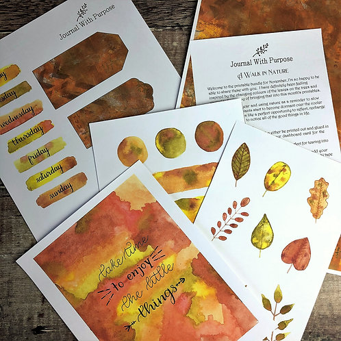 Journal Printables Bundle - A Walk in Nature